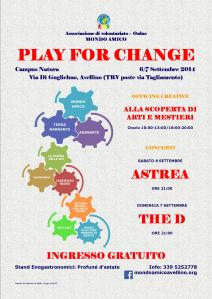 LOCANDINA PLAY FOR CHANGE